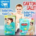 【PAMPERS】★ Pampers Baby-Dry Pants/Tape Diapers ★Carton Sale★ DIFFERENT SIZES ★