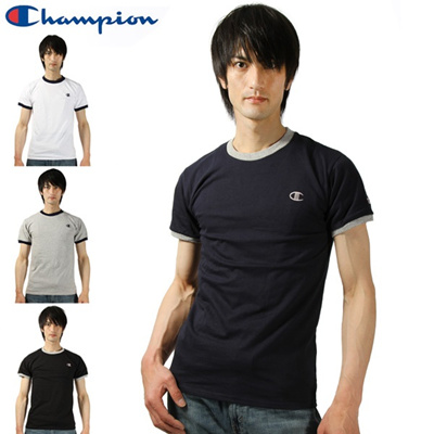 着後レビューで2点までメール便送料無料! チャンピオン Champion tシャツ メンズ 半袖 無地 黒 白 クルーネック アメカジ かっこいい シンプル おしゃれ 人気 ヒップホップ 通販/正規品が激安特価セールの画像