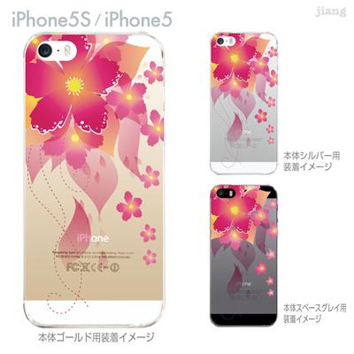 【iPhone5S】【iPhone5】【iPhone5sケース】【iPhone5ケース】【カバー】【スマホケース】【クリアケース】【フラワー】【レトロフラワー】 06-ip5s-ca0105の画像