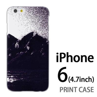 iPhone6 (4.7インチ) 用『No4 モノクロマウンテン』特殊印刷ケース【 iphone6 iphone アイフォン アイフォン6 au docomo softbank Apple ケース プリント カバー スマホケース スマホカバー 】の画像