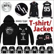 BTS TEAM T-shirts /BTS Bangtan Boys baseball long sleeve jacket hoody/ LL269Women Men concert wear c