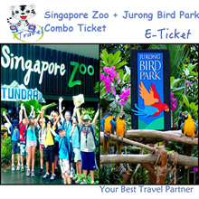 【99 TRAVEL】Singapore Zoo + Jurong Bird Park (both with Tram ride )E-ticket 新加坡日间动物园电子票 + 飞禽公园电子票
