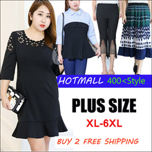 2017 Plus / women fashion lovely dress / tops / pants/special for fat women / Look thin /profession