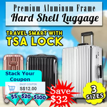 [Best Value] Hard Shell Luggage Aluminium Alloy Frame ABS Polycarbonate Travel Luggage Bag/Trolley