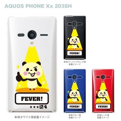 【TORRY DESIGN】【AQUOS PHONE Xx 203SH】【Soft Bank】【ケース】【カバー】【スマホケース】【クリアケース】【アニマル】【パンダ】【フィーバー】【スポットライト】 27-203sh-tr0021の画像