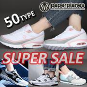 ◆[本日限定特価割引! ]◆全商品 PAPERPLANES 50%-70%sale!SNSで話題の 韓国人気スニーカーコレクション エアクッションスニーカー /ランニングシューズスポーツシュ