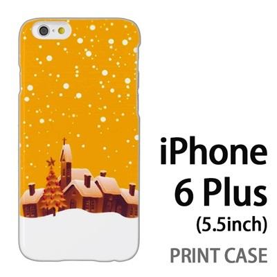 iPhone6 Plus (5.5インチ) 用『1222 雪降る町 黄』特殊印刷ケース【 iphone6 plus iphone アイフォン アイフォン6 プラス au docomo softbank Apple ケース プリント カバー スマホケース スマホカバー 】の画像