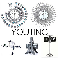 【YOUTING】unique crystal clock watch 3D Modern art Clock christmas gift ❤Flip Clock❤Meidi Wall clock❤DIY digital creative gifts❤ little bird swing clock