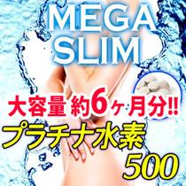 【メガスリム プラチナ水素500】年齢太りに!!4種の水素でサビない人に。プラチナ・乳酸菌配合。大容量!!約半年分
