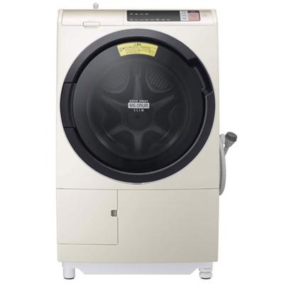 洗濯機日立(HITACHI)ヒートリサイクル風アイロンビッグドラムスリムBD-SV110AR