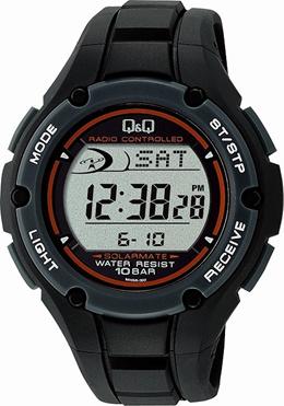 [シチズン キューアンドキュー]CITIZEN QQ 腕時計 SOLARMATE (ソーラーメイト) 電波ソーラー デジタル表示 クロノグラフ 10気圧防水 ブラック MHS6-300 メンズ