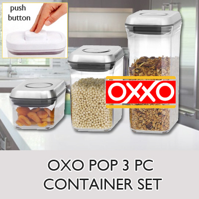 Qoo10 oxo pop 3 pc container set kitchen dining for Qoo10 kitchen set