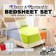 [BUY 1 GET 1 FREE] BEDSHEETS SET ♥ FITTED SHEET ♥ Classy ♥ Colours ♥ Romantic Silky ♥ 100% Cotton ♥ Anti-pilling ♥ Anti-balling ♥ 420 Thread Count ♥ Extremely soft and breathable