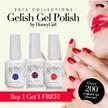[Buy 1 FREE 1] Premium Gelish Gel Nail Polish by Honey Girl for Shiny Glossy Polish Nail [2014-2015