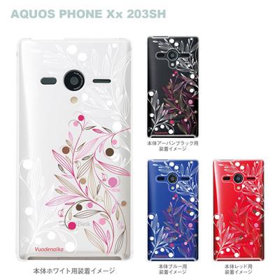 【AQUOS PHONEケース】【203SH】【Soft Bank】【カバー】【スマホケース】【クリアケース】【Vuodenaika】【フラワー】 21-203sh-ne0046の画像
