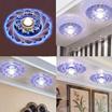 新しい現代のクリスタルのLED天井の什器青い光の家のランプ照明のシャンデリア