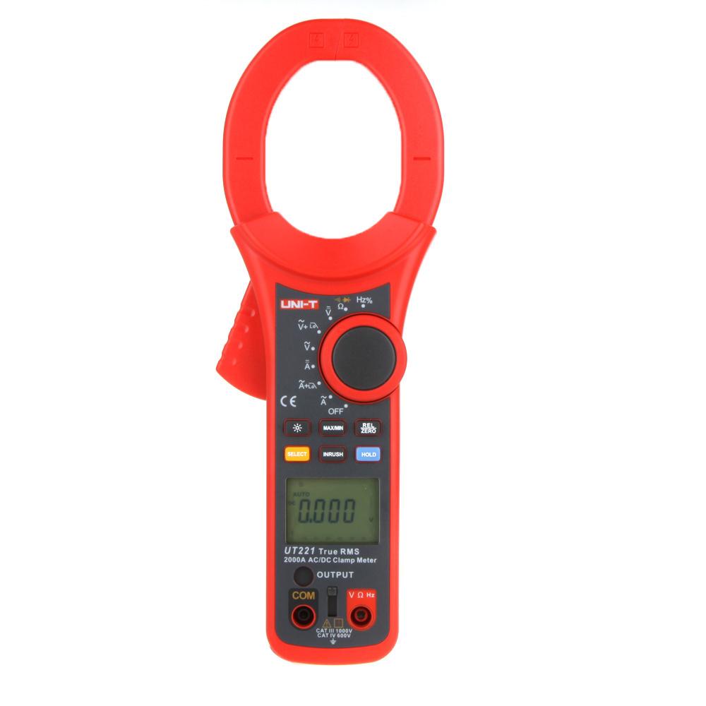 【クリックで詳細表示】UNI-T UT221 2000A True RMS Digital Clamp Meters LCD Backlight W/ Frequency Duty Cycle Test`