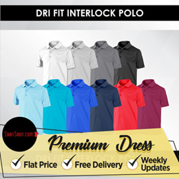 ★ DRI FIT INTERLOCK POLO / UNISEX / POLO / SHIRTS / SHIRT / TOP / CASUAL / TEE / DRY FIT / SPORT ★