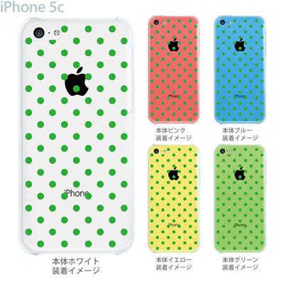 【iPhone5c】【iPhone5cケース】【iPhone5cカバー】【ケース】【カバー】【スマホケース】【クリアケース】【チェック・ボーダー・ドット】【グリーンドット】 22-ip5c-ca0005の画像