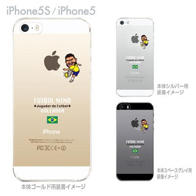 【ブラジル】【FUTBOL NINO】【iPhone5S】【iPhone5】【サッカー】【iPhone5ケース】【カバー】【スマホケース】【クリアケース】 10-ip5s-fca-bz08の画像