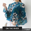 ★ontheriver★  SUPER SALE!! ★Flower Pattern Blouse / Frill Point  / Chiffon / High Quality Material
