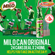 MILO Can Original x 24 cans (240ml)!! FREE DELIVERY!! EXP 13 Aug 2017