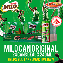 MILO Can Original x 24 cans (240ml)!! FREE DELIVERY!! EXP 13 Aug 2018!