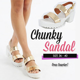 Chunky Heel Sling Back~ Stable and Light Weight~ Casual