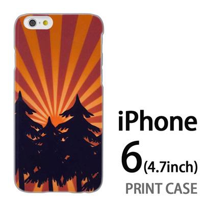 iPhone6 (4.7インチ) 用『No4 日光林』特殊印刷ケース【 iphone6 iphone アイフォン アイフォン6 au docomo softbank Apple ケース プリント カバー スマホケース スマホカバー 】の画像