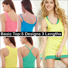 All Occasions Basic Top Wear Modal Sleeveless Tees Singlet Sport Back Sphagetti Strap/Tube Bandeau