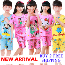2017 NEW ARRAVAL pajamas for kids  girl pajamas boy sleepwear kids underwear clothes