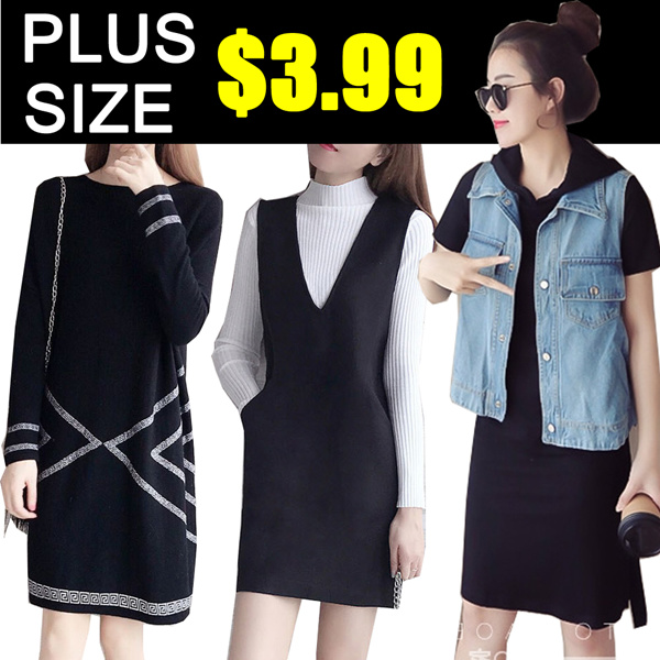 ?BIG PROMO S$3.99? Plus Size shirt/Tops/pants/Dress/Short sleeve Long-sleeved dress/suit Deals for only S$29.9 instead of S$0