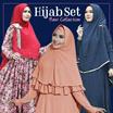 Hijab set - gamis + pashmina - gamis syari -maxi dress high quality