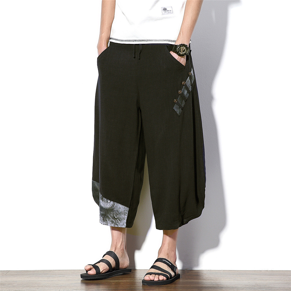 ワイドパンツ テーラードパンツ メンズ ハーレムパンツ ガウチョパンツ 綿麻 美脚パンツ サルエルパンツ ゆったり 大きいサイズ