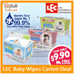 LEC 99.9% [Direct From JAPAN] Pure Water Baby wipe - Everyday wipes (80s x 8) / Hand and Mouth (80s x 6) / Flushable Type (60s x 6) / Thick Type (60s x 4)