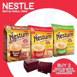 [Nescafe] NESTUM 3in1 Multigrain Cereal Milk Drink【Buy 2 Mixes and get 1 Free Travel Organizer!】