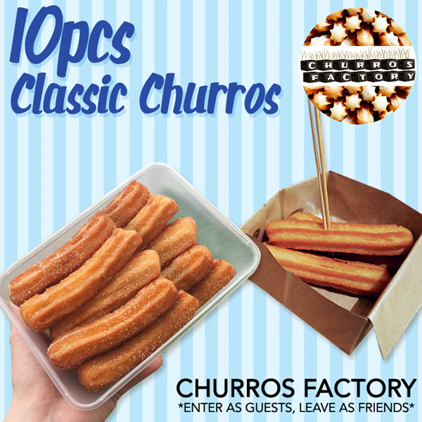 [CHURROS FACTORY] - 10 Pcs Classic Churros at All 4 Outlets