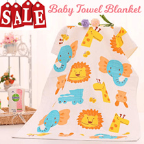 Baby Towel/Children Bath Towels / Blanket / Nursing Cover /100% Cotton Muslin Gauze / Shower Towel