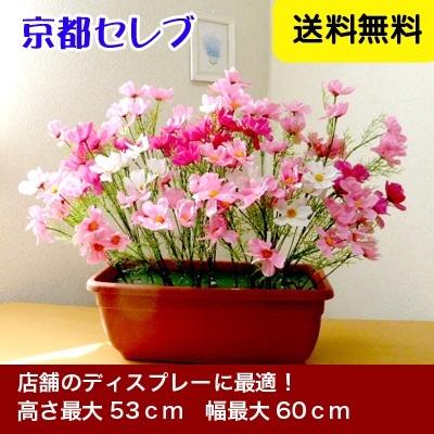●代引き不可送料無料造花コスモスプランター(秋の装飾・デイスプレイに)99999の画像