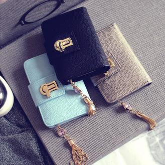 Qoo10レディース財布 二つ折り財布   ミニ財布 ファスナー コインケース 韓国ファッション タッセル付き コインケース 小銭入れ カード入れ レディースウォレット  大容量 恋人プレ