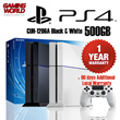 NEW Sony Playstation 4 500GB Console CUH-1206A Black / Glacier White (1 Year + 90 Days Additional Local Warranty) - LATEST MODEL WHICH WEIGHS LIGHTER AND CONSUMES LESS POWER