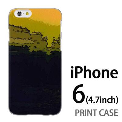 iPhone6 (4.7インチ) 用『No4 風景画 緑』特殊印刷ケース【 iphone6 iphone アイフォン アイフォン6 au docomo softbank Apple ケース プリント カバー スマホケース スマホカバー 】の画像