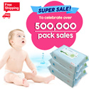 ◆54th RESTOCK◆To celebrate over 500000pack sales/NO.1 Wet Wipes/Manufactured on SEP.28.2016/JEJU island wet tissue/Baby wet wipes / Thick wet wipes / Weight 50g / Safe for baby / High quality