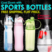 Sports Water Bottle with mist spray.  Free Normal Mail  Buy 3 Free Upgrade Courier. 1st 100pcs Only!
