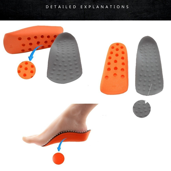 One Pair of Height Increase Shoes Inserts Insoles Pads Heel Lifts Taller Pad for Man and Woman Deals for only S$52.29 instead of S$0