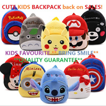 💓LOCAL SELLER💓NEW ARRIVALS💓 IN KIDS 3D BACKPACK BAG HELLO KITTY/SUPERHEROS/PIKACHU/POKEMON/MICKEY