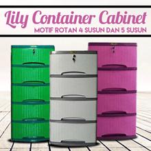 [New Product] Lily Container Cabinet Motif Rotan 4 Susun dan 5 Susun