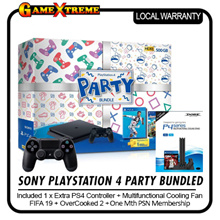 SUPER CHRISTMAS Deal! Playstation 4 PARTY Bundle. FIFA 2019 + Overcooked II (Physical Game Copy) PLUS Additional Controller! Optional. Local Stocks and 27 Months Warranty!