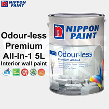 Nippon Paint Odourless All-in-1 Premium Emulsion Paint 5L for interior walls
