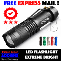 [FREE EXPRESS MAIL] Touch Light American Extreme Brightness CREE LED Torch XML Q5 Torchlight Flashlight Outdoor Portable lights